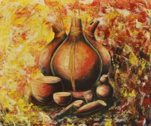 the-calabash-oilcanvas-n-framed-20x18cm-ernest-adu-350
