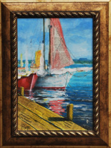boat-collage-mixed-media-15x20cm-framed-andres-borges-375